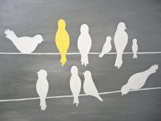 bird on a line